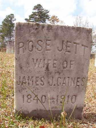 JETT GAINES, ROSE - Hempstead County, Arkansas | ROSE JETT GAINES - Arkansas Gravestone Photos