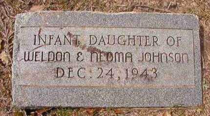 JOHNSON, INFANT DAUGHTER - Hempstead County, Arkansas | INFANT DAUGHTER JOHNSON - Arkansas Gravestone Photos