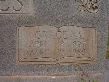 JONES, GRACE A (CLOSEUP) - Hempstead County, Arkansas | GRACE A (CLOSEUP) JONES - Arkansas Gravestone Photos