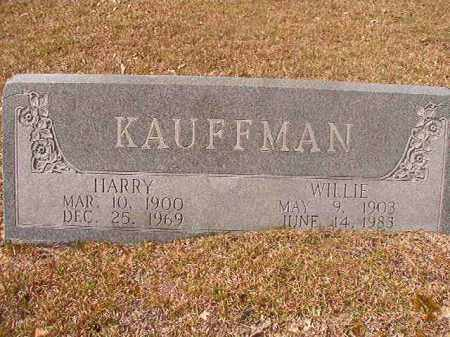 KAUFFMAN, WILLIE - Hempstead County, Arkansas | WILLIE KAUFFMAN - Arkansas Gravestone Photos