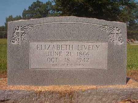 LIVELY, ELIZABETH - Hempstead County, Arkansas | ELIZABETH LIVELY - Arkansas Gravestone Photos