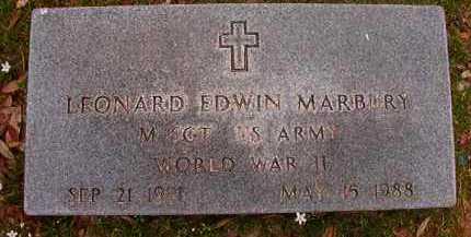MARBURY (VETERAN WWII), LEONARD EDWIN - Hempstead County, Arkansas | LEONARD EDWIN MARBURY (VETERAN WWII) - Arkansas Gravestone Photos