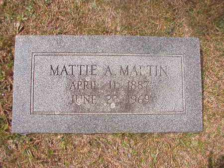 MARTIN, MATTIE A - Hempstead County, Arkansas | MATTIE A MARTIN - Arkansas Gravestone Photos