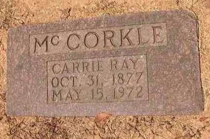 MCCORKLE, CARRIE RAY - Hempstead County, Arkansas | CARRIE RAY MCCORKLE - Arkansas Gravestone Photos