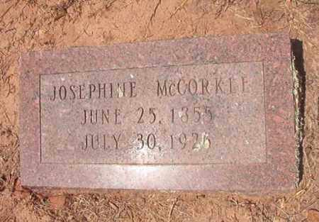 MCCORKLE, JOSEPHINE - Hempstead County, Arkansas | JOSEPHINE MCCORKLE - Arkansas Gravestone Photos