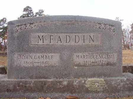 ENGLISH MCFADDIN, MARTHA - Hempstead County, Arkansas | MARTHA ENGLISH MCFADDIN - Arkansas Gravestone Photos