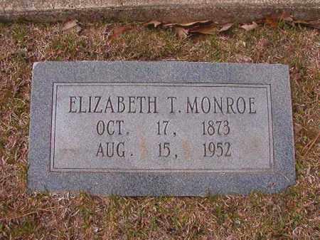 MONROE, ELIZABETH T - Hempstead County, Arkansas | ELIZABETH T MONROE - Arkansas Gravestone Photos