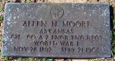 MOORE (VETERAN WWI), ALLEN H - Hempstead County, Arkansas | ALLEN H MOORE (VETERAN WWI) - Arkansas Gravestone Photos