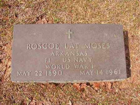 MOSES (VETERAN WWI), ROSCOE LAT - Hempstead County, Arkansas | ROSCOE LAT MOSES (VETERAN WWI) - Arkansas Gravestone Photos