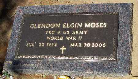 MOSES (VETERAN WWII), GLENDON ELGIN - Hempstead County, Arkansas | GLENDON ELGIN MOSES (VETERAN WWII) - Arkansas Gravestone Photos