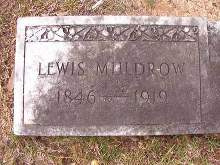 MULDROW, LEWIS (CLOSEUP) - Hempstead County, Arkansas | LEWIS (CLOSEUP) MULDROW - Arkansas Gravestone Photos
