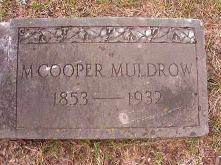 COOPER MULDROW, M (CLOSEUP) - Hempstead County, Arkansas | M (CLOSEUP) COOPER MULDROW - Arkansas Gravestone Photos