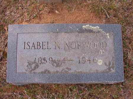 NORWOOD, ISABEL N - Hempstead County, Arkansas | ISABEL N NORWOOD - Arkansas Gravestone Photos