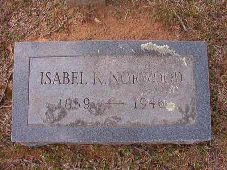 NORWOOD, ISABEL N - Hempstead County, Arkansas | ISABEL N NORWOOD - Arkansas Gravestone Photos