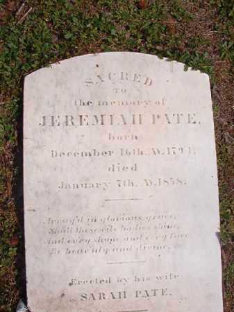 PATE, JEREMIAH - Hempstead County, Arkansas | JEREMIAH PATE - Arkansas Gravestone Photos