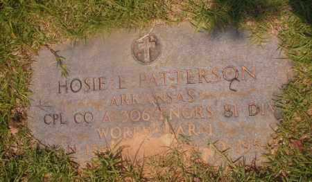 PATTERSON (VETERAN WWI), HOSIE E - Hempstead County, Arkansas | HOSIE E PATTERSON (VETERAN WWI) - Arkansas Gravestone Photos