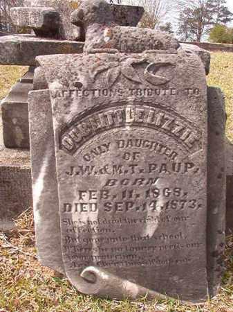 PAUP, LIZZIE - Hempstead County, Arkansas | LIZZIE PAUP - Arkansas Gravestone Photos