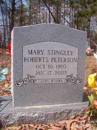 STINGLEY ROBERTS PETERSON, MARY - Hempstead County, Arkansas | MARY STINGLEY ROBERTS PETERSON - Arkansas Gravestone Photos