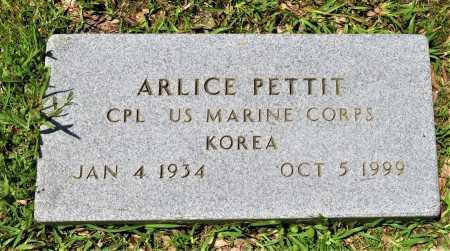 PETTIT (VETERAN KOR), ARLICE - Hempstead County, Arkansas | ARLICE PETTIT (VETERAN KOR) - Arkansas Gravestone Photos