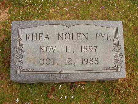 PYE, RHEA - Hempstead County, Arkansas | RHEA PYE - Arkansas Gravestone Photos
