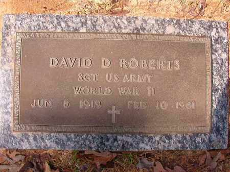 ROBERTS (VETERAN WWII), DAVID D - Hempstead County, Arkansas | DAVID D ROBERTS (VETERAN WWII) - Arkansas Gravestone Photos
