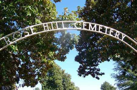 *ROSE HILL CEMETERY GATE,  - Hempstead County, Arkansas |  *ROSE HILL CEMETERY GATE - Arkansas Gravestone Photos
