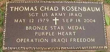 ROSENBAUM (VETERAN IRAQ, KIA), THOMAS CHAD - Hempstead County, Arkansas | THOMAS CHAD ROSENBAUM (VETERAN IRAQ, KIA) - Arkansas Gravestone Photos