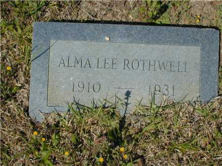 ROTHWELL, ALMA LEE - Hempstead County, Arkansas | ALMA LEE ROTHWELL - Arkansas Gravestone Photos