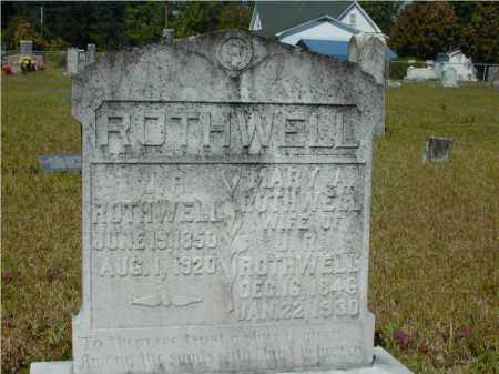 ROTHWELL, MARY ANN - Hempstead County, Arkansas | MARY ANN ROTHWELL - Arkansas Gravestone Photos