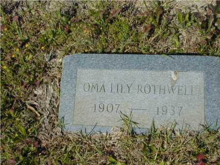 ROTHWELL, OMA LILY - Hempstead County, Arkansas | OMA LILY ROTHWELL - Arkansas Gravestone Photos