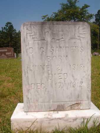 SANDERS, D G - Hempstead County, Arkansas | D G SANDERS - Arkansas Gravestone Photos