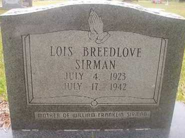SIRMAN, LOIS - Hempstead County, Arkansas | LOIS SIRMAN - Arkansas Gravestone Photos