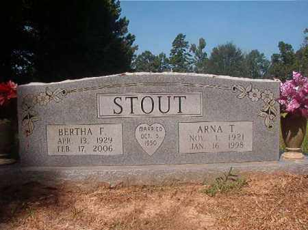 STOUT, BERTHA F - Hempstead County, Arkansas | BERTHA F STOUT - Arkansas Gravestone Photos