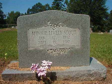 LIVELY STOUT, MINNIE - Hempstead County, Arkansas | MINNIE LIVELY STOUT - Arkansas Gravestone Photos