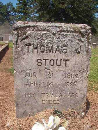 STOUT, THOMAS J - Hempstead County, Arkansas | THOMAS J STOUT - Arkansas Gravestone Photos