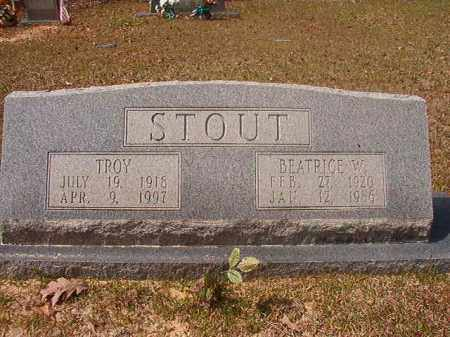 STOUT, BEATRICE W - Hempstead County, Arkansas | BEATRICE W STOUT - Arkansas Gravestone Photos