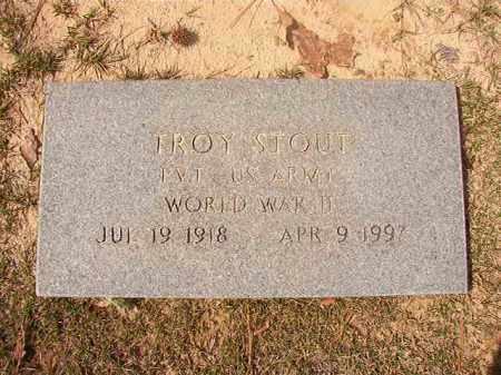 STOUT (VETERAN WWII), TROY - Hempstead County, Arkansas   TROY STOUT (VETERAN WWII) - Arkansas Gravestone Photos