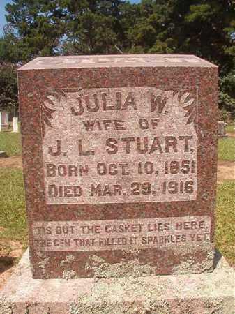 STUART, JULIA W - Hempstead County, Arkansas | JULIA W STUART - Arkansas Gravestone Photos