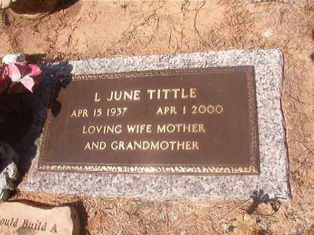 TITTLE, L JUNE - Hempstead County, Arkansas | L JUNE TITTLE - Arkansas Gravestone Photos