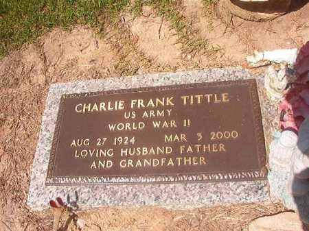 TITTLE (VETERAN WWII), CHARLIE FRANK - Hempstead County, Arkansas | CHARLIE FRANK TITTLE (VETERAN WWII) - Arkansas Gravestone Photos