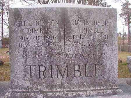 NELSON TRIMBLE, LILLIE - Hempstead County, Arkansas | LILLIE NELSON TRIMBLE - Arkansas Gravestone Photos