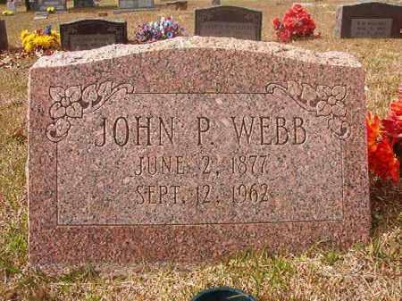 WEBB, JOHN P - Hempstead County, Arkansas | JOHN P WEBB - Arkansas Gravestone Photos