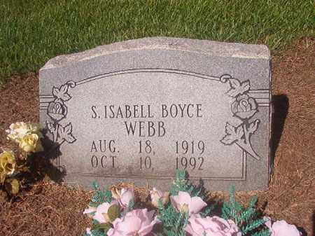 BOYCE WEBB, S ISABELL - Hempstead County, Arkansas | S ISABELL BOYCE WEBB - Arkansas Gravestone Photos