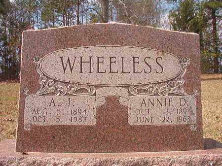 WHEELESS, ANNIE D - Hempstead County, Arkansas | ANNIE D WHEELESS - Arkansas Gravestone Photos
