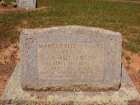 STUART WILLIAMSON, MARGUERITE - Hempstead County, Arkansas | MARGUERITE STUART WILLIAMSON - Arkansas Gravestone Photos