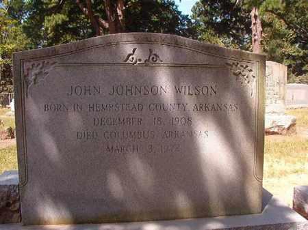 WILSON, JOHN JOHNSON - Hempstead County, Arkansas | JOHN JOHNSON WILSON - Arkansas Gravestone Photos