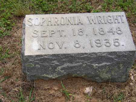 WRIGHT, SOPHRONIA - Hempstead County, Arkansas | SOPHRONIA WRIGHT - Arkansas Gravestone Photos