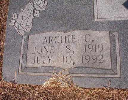 YOUNG, ARCHIE C (CLOSEUP) - Hempstead County, Arkansas | ARCHIE C (CLOSEUP) YOUNG - Arkansas Gravestone Photos