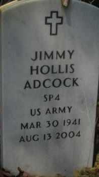ADCOCK (VETERAN), JIMMY HOLLIS - Hot Spring County, Arkansas | JIMMY HOLLIS ADCOCK (VETERAN) - Arkansas Gravestone Photos