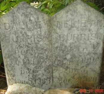 BURRIS, DALLIE - Hot Spring County, Arkansas | DALLIE BURRIS - Arkansas Gravestone Photos